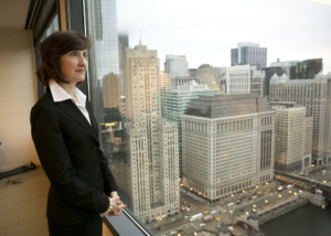 Laurel Delaney has published a book on exporting.  Photo courtesy:  Richard Chapman/Chicago Sun-Times.