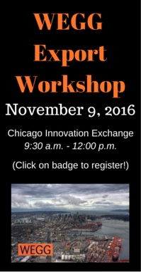 Join us for our WEGG Export Workshop on 11/9!