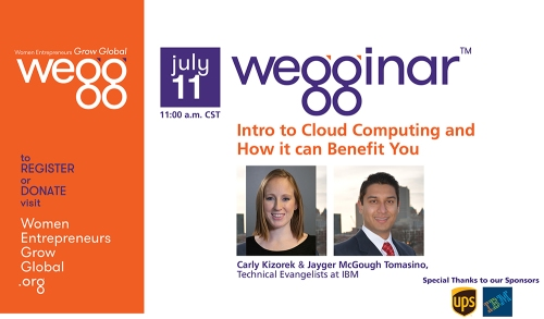 July 11 wegginar: Intro to Cloud Computing